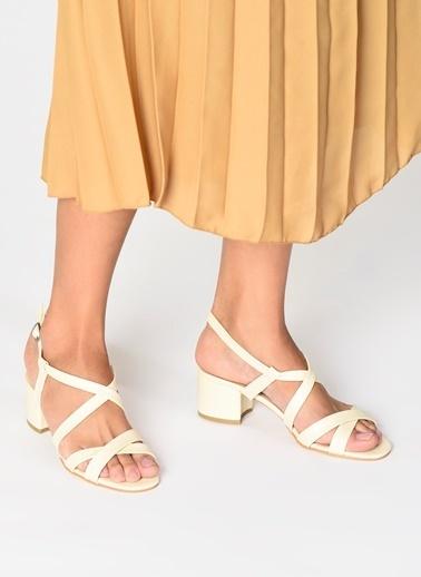 D by Divarese Topuklu Ayakkabı Bej